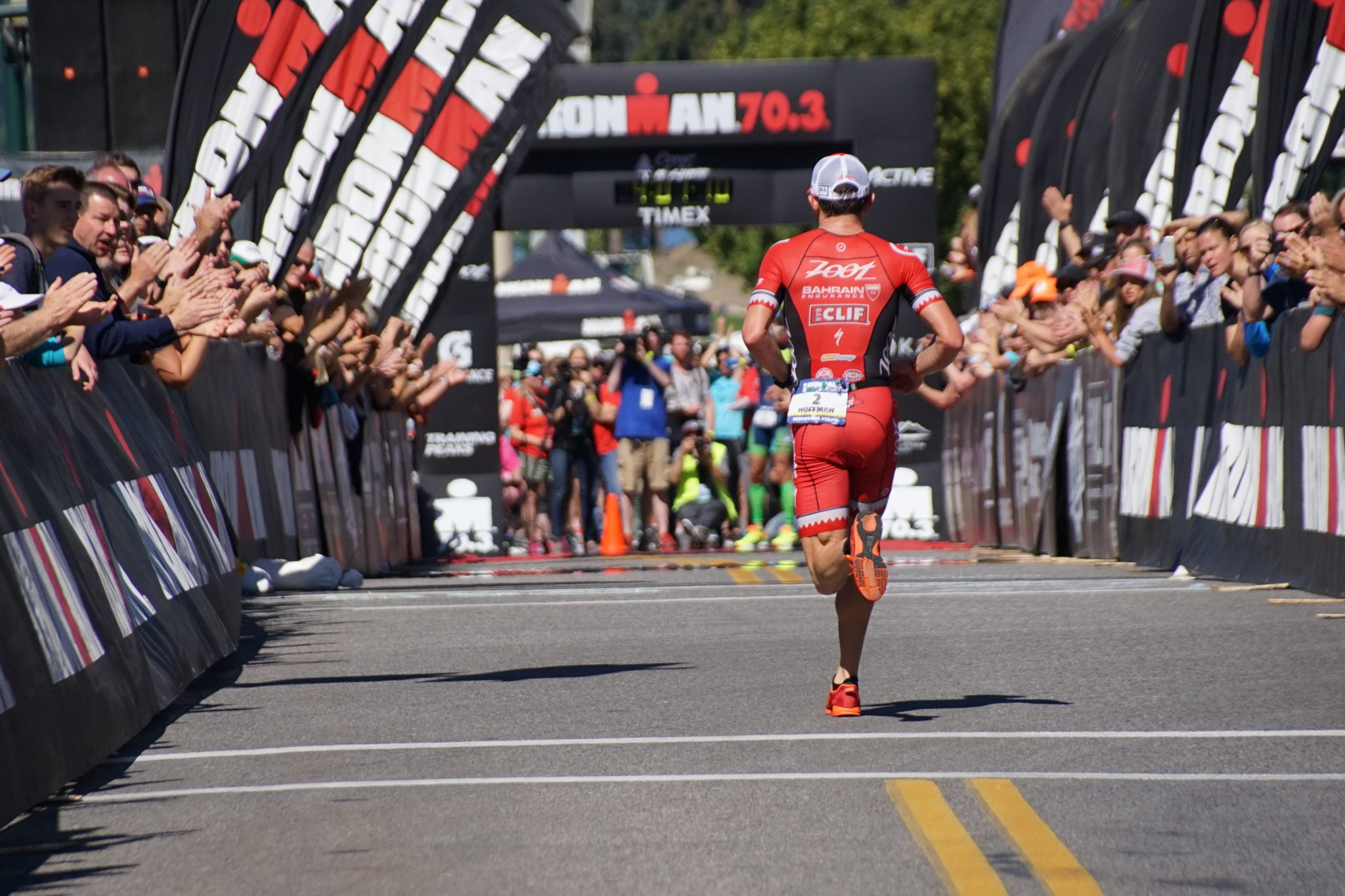No matter how a race goes, the finish chute is always a special moment. Photo by Sue Hutter